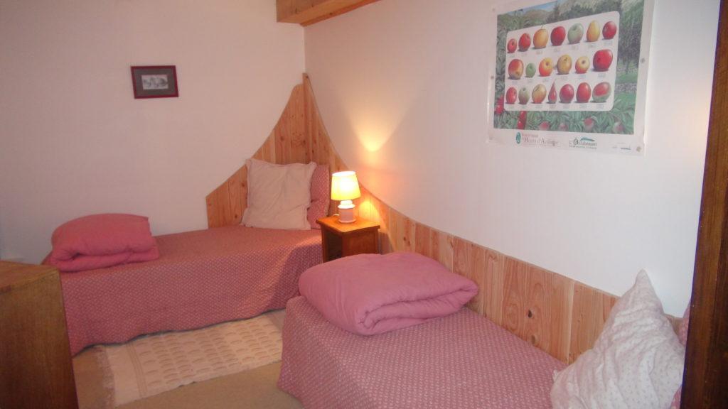 Chambre du gîte A la lisère à MAyres Ardèche